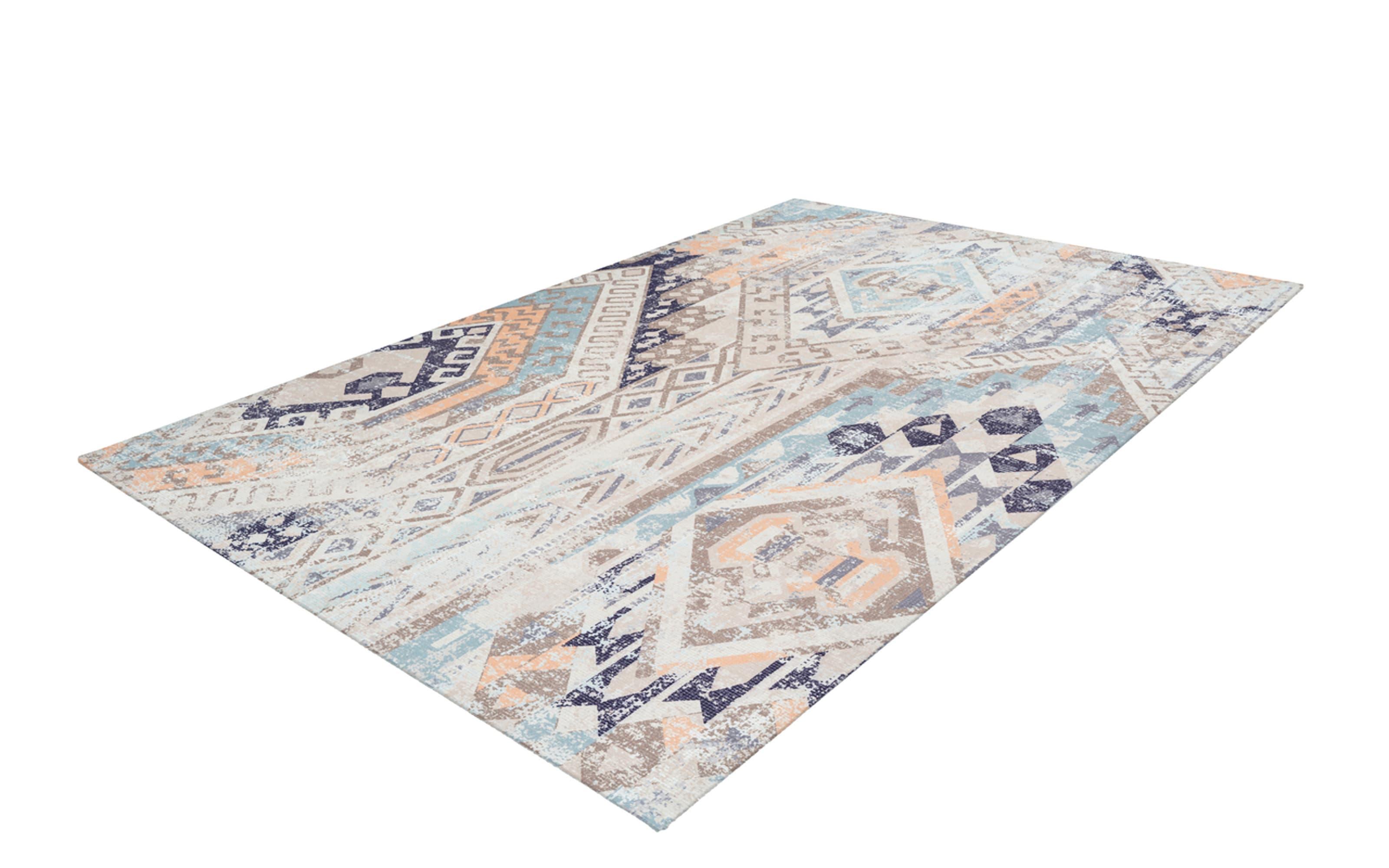 Teppich Indiana 200 in multi-blau, 80 x 150 cm