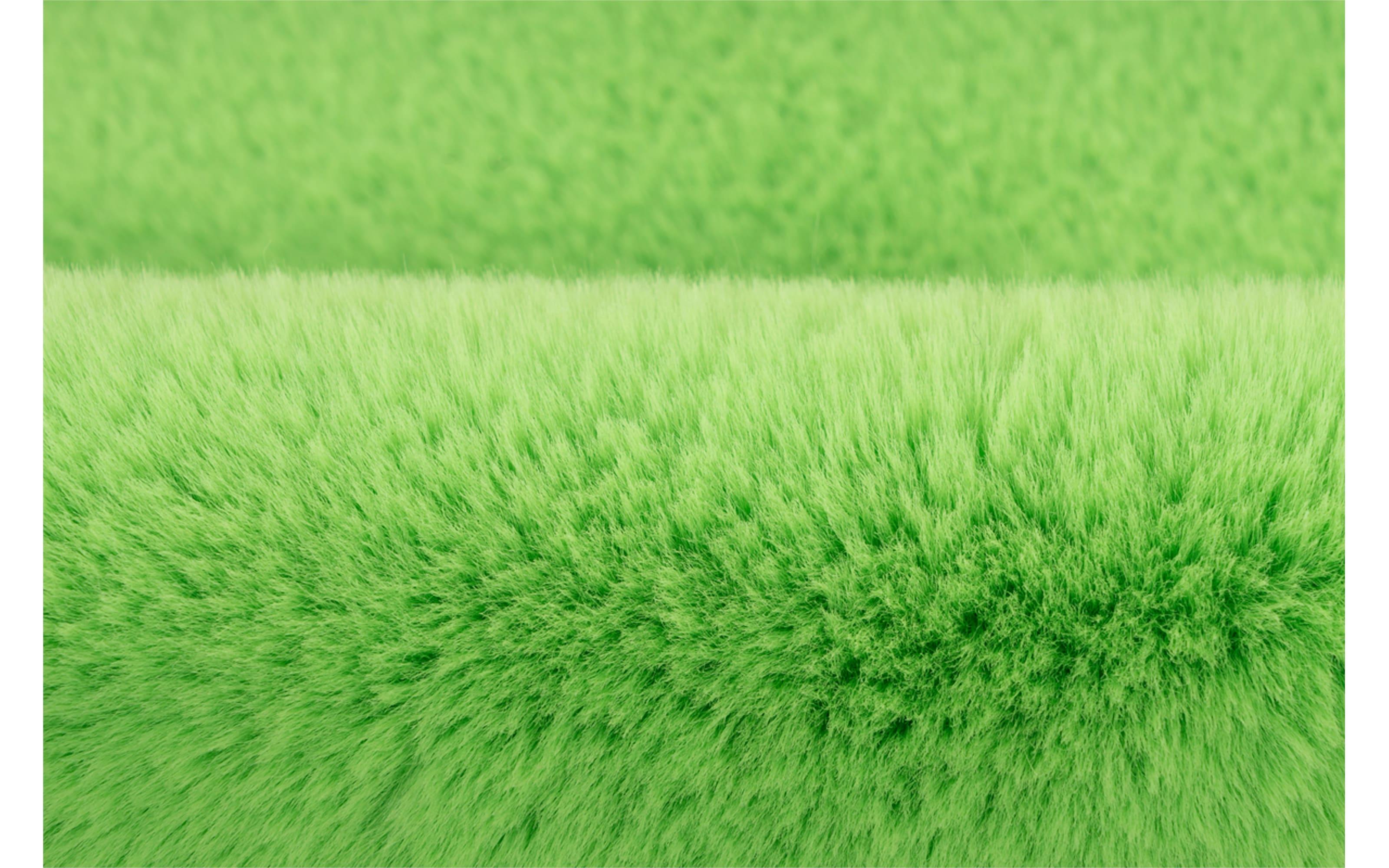 Hochflorteppich Star in grün, 60 x 63 cm
