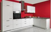 Einbauküche Touch in alpinweiß, Bauknecht-Geschirrspüler