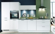 Einbauküche Fashion, Lack alpinweiß matt, inklusive Elektrogeräte, inklusive Siemens Geschirrspüler
