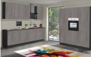 Einbauküche Star 236, graublau, inklusive Elektrogeräte
