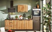 Einbauküche 700 PN100 664, graphit/Honig Eiche Nachbildung, inklusive Elektrogeräte