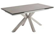 Stuhlgruppe Nagano/Newcastle in anthrazit, mit Tischplatte aus Keramik