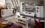 Wohnwand Alibaba in weiß/grau Hochglanz