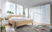 Bett Loft in weiß/Bianco Eiche-Nachbildung, Liegefläche ca. 180 x 200 cm