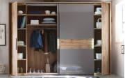 Kleiderschrank Milano in Wildeiche Nachbildung/basaltgrau
