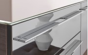 Badeinrichtung Leo Living Bad 109 in graphit/Glas metallic