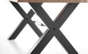 Esstisch Dehli in Mango Wood, Metallgestell in schwarz matt