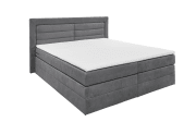 Boxspringbett Saba 2 in grau