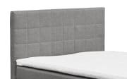 Boxspringbett Hawaii 2 in Savanna 21 grau, mit Bettkasten, inklusive Komfortschaum-Topper