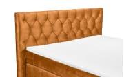 Boxspringbett Pembroke 8 in amber, mit 7-Zonen-Tonnentaschenfederkernmatratzen