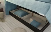 Boxspringbett Bologna 8 in mint,mit Bettkasten, inklusive Komfortschaum-Topper