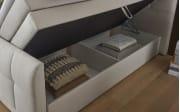 Boxspringbett 486 in creme, Liegefläche ca. 180 x 200 cm, Tonnentaschenfederkern