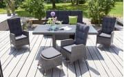 Garten-Positionsstuhl Parma in weiß/grau