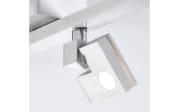 LED-Deckenleuchte Degree in silberfarbig, 4-flammig