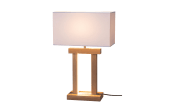 LED-Tischleuchte Habena in Eiche geölt/nickel matt