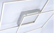 LED-Deckenleuchte Q-Inigo in stahlfarbig, 68 x 68 cm