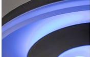LED-Deckenleuchte Eddy in schwarz/weiß matt