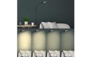 LED-Standleuchte Brilo Office in schwarz