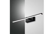 LED-Wandleuchte Nala in schwarz, 50 cm