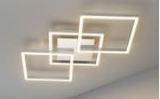LED-Deckenleuchte Jalu in alufarbig