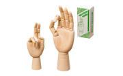 Figur Hand aus Holz, 25 cm