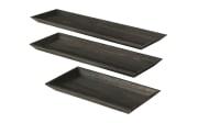 Deko-Tablett Lanto in schwarz, 45 cm
