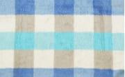 Duschtuch Karo in blau, 70 x 140 cm