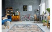 Teppich Antigua 500 in creme/blau, 120 x 170 cm