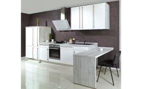 Einbauküche Focus 460, Lack weiß, inklusive Elektrogeräte, inklusive AEG Geschirrspüler