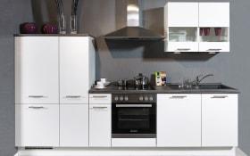 Einbauküche Focus, Lack weiß, inklusive Elektrogeräte, inklusive AEG-Geschirrspüler