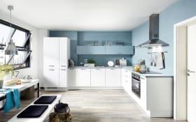 Einbauküche Touch, Lacklaminat weiß supermatt, inklusive Elektrogeräte, inklusive Siemens Geschirrspüler