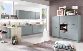 Einbauküche Touch, Lacklaminat aqua supermatt, inklusive Elektrogeräte, inklusive AEG Geschirrspüler