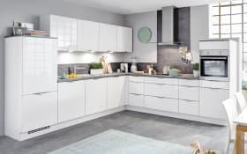 Einbauküche Focus, Lack Ultra-Hochglanz alpinweiß, inklusive Elektrogeräte