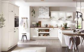 Einbauküche York, magnolia, inklusive Elektrogeräte, inklusive Siemens Geschirrspüler