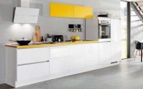 Einbauküche Focus 470, alpinweiß, inklusive Elektrogeräte, inklusive Neff Geschirrspüler