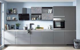 Einbauküche Touch, schiefergrau, inklusive Elektrogeräte, inklusive Siemens Geschirrspüler