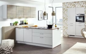 Einbauküche Touch, seidengrau, inklusive Elektrogeräte, inklusive Neff Geschirrspüler