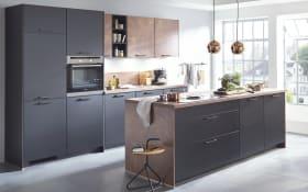 Einbauküche Touch, schwarz, inklusive Miele Backofen und Neff-Geschirrspüler