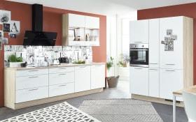 Einbauküche Speed 244, alpinweiß, inklusive Elektrogeräte, inklusive Siemens Geschirrspüler