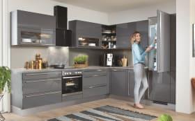 Einbauküche Lux, schiefergrau, inklusive Elektrogeräte
