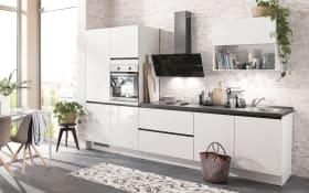 Einbauküche Flash, alpinweiß Hochglanz, inklusive Elektrogeräte