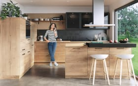 Einbauküche Structura, Eiche sierra-Nachbildung, inklusive AEG Elektrogeräte