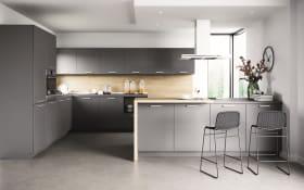 Einbauküche Touch, schiefergrau, inklusive AEG Elektrogeräte