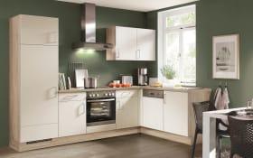 Einbauküche Flash 648 in Hochglanz weiß, Leonard-Geschirrspüler