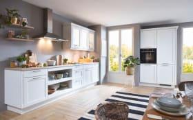 Einbauküche Cascada, weiß, inklusive Bauknecht Elektrogeräte