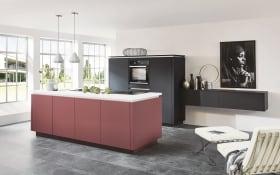 Einbauküche Easytouch in graphit, inklusive Junker Elektrogeräte