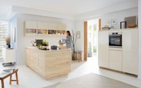 Einbauküche Riva/Flash in braun, Siemens Geschirrspüler inklusive