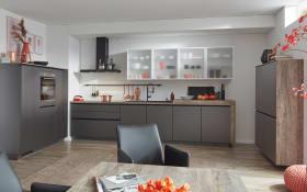 Einbauküche Touch, schiefergrau, inklusive Bosch Elektrogeräte