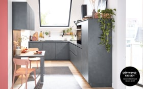 Einbauküche Riva in schiefergrau, Siemens Geschirrspüler inklusive